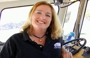 U.S.C.G. Certified Captain Maggie Mcdonogh of The Angel Island Tiburon Ferry, Co.
