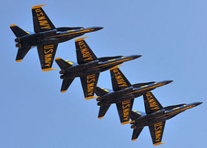 Catch the Blue Angels Air Show Cruise from Angel Island State Park.