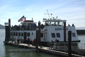 Hop on Angel Island Ferry in Tiburon, California for day-trips to Angel Island State Park.